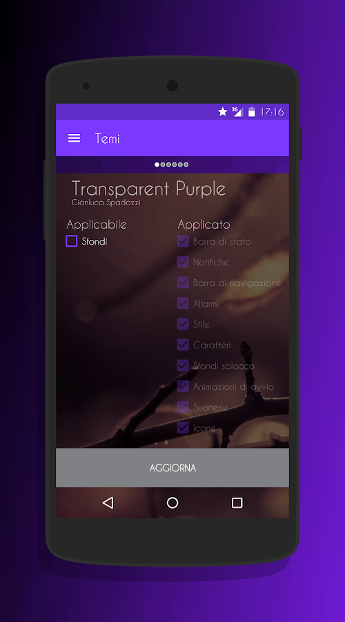 Transparent Purple -CM13 Theme Screenshot 7
