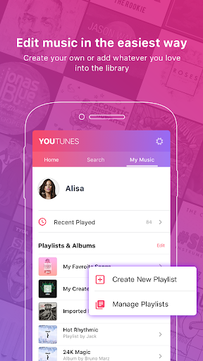 Free Music player - YouTunes For PC