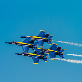 Formation by Gary Duncan - Transportation Airplanes ( airplanes, airshow, blue angels )