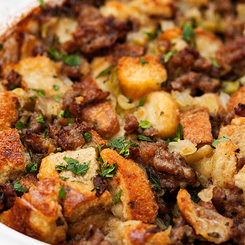 My Favorite Sausage Bread Stuffing