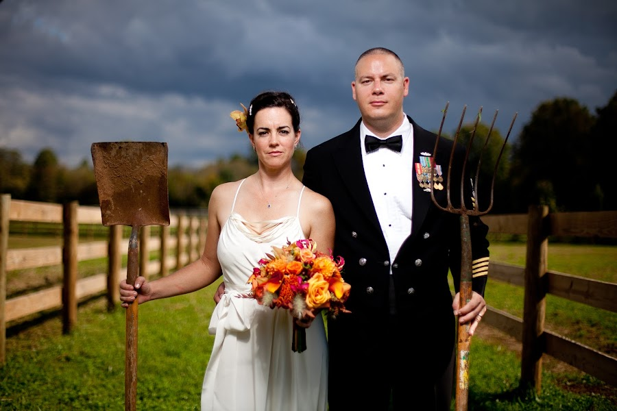 American Gothic by Drew Noel - Wedding Bride & Groom ( drew noel photography )