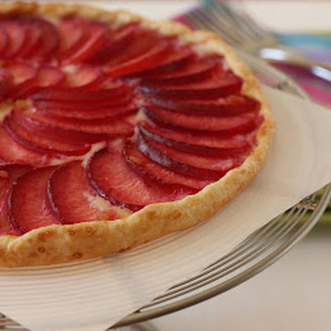 Pluot and Almond Crostata