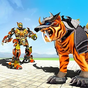Download Futuristic Robot tiger real robot transformation For PC Windows and Mac