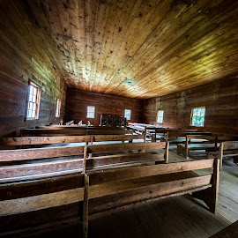 Cades Cove Church by Chris Thomas - Buildings & Architecture Places of Worship ( tn, vacation, hdr, family, gatlinburg, cades cove, gatlinberg )