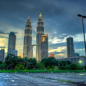 Sunset - Kuala Lumpur by Zulkifli Yusof - City,  Street & Park  Vistas
