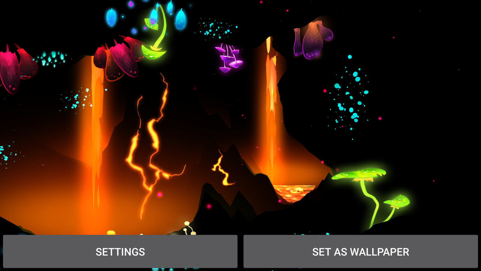 3D Fantasy Epic Lava Cave LWP Screenshot 9