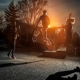 Dirt Jump by Andrei Liviu - Sports & Fitness Cycling ( bike, park, bmx, funny, dirt jump, trick, dirt, dartmoor, young, sun, jump )