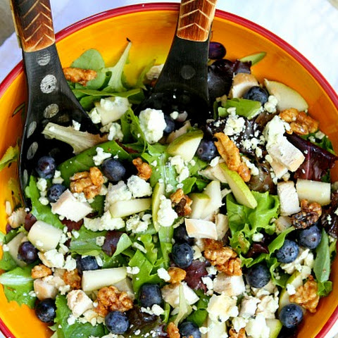 Blueberry, Blue Cheese and Glazed Walnut Salad