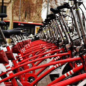 Bikes of Barcelona by Ewan Allardice - City,  Street & Park  Street Scenes ( bikes, sapin, streets, barcelona )