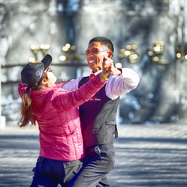 Shall We Dance by Francisco Little - City,  Street & Park  Street Scenes ( waltz, china, beijing, dance )