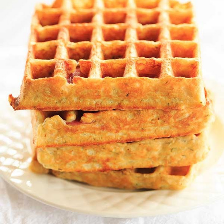 Savory Salami, Cheese & Herb Waffles Recipe | Yummly