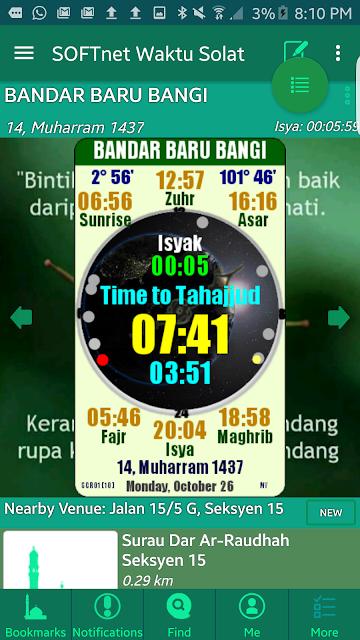 SOFTnet Waktu Solat screenshots