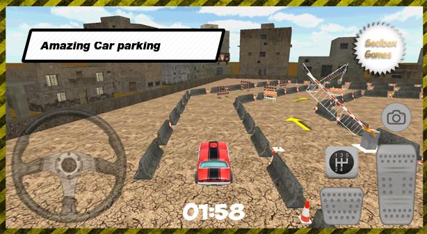 parking voiture rouge 3d city apk 10 0 0 jeux de simulation gratuit pour android. Black Bedroom Furniture Sets. Home Design Ideas