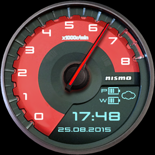 GT-R Nismo Watch Face - screenshot
