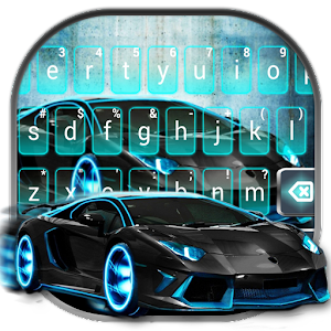 Sports Racing Car Keyboard Theme