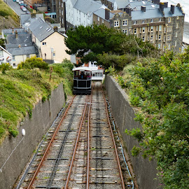 Aber 11 by Roger Bennett - Transportation Trains ( university town, wales, outdoors, seaside, aberystwyth )