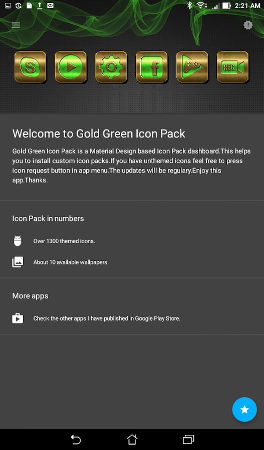Gold Green Icon Pack Screenshot 1