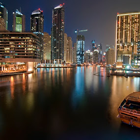 Dubai Marina - Tour Boat by Andrew Madali - Buildings & Architecture Other Exteriors