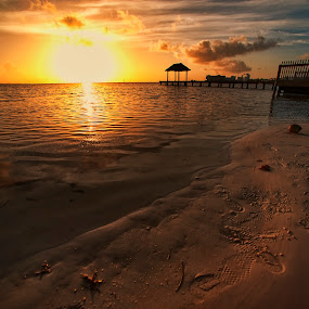 sunrise in Cancun by Cristobal Garciaferro Rubio - Landscapes Waterscapes ( shore, water, rise, sea, sunrise, sun )