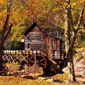 Grist Mill by Dawn Vance - Buildings & Architecture Public & Historical ( landmark, mill, building, architecture, historical, landscape )