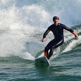 HB Surfer by Jose Matutina - Sports & Fitness Surfing ( guy, orange county, surfer, california, sport, huntington beach )