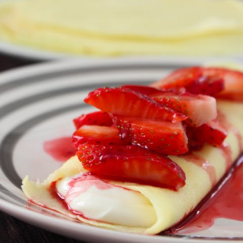 Gluten Free Blender Crepes with Cheesecake Filling
