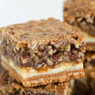 Hazelnut Pecan Cheesecake Bars