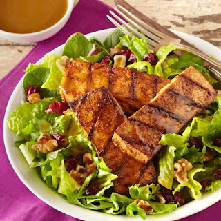Spicy Grilled Tofu Salad with Balsamic Vinaigrette