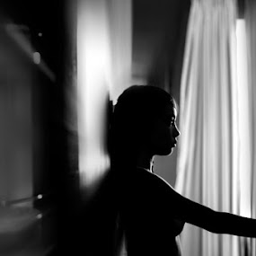 Nude silhouette by Andri Priambada - Nudes & Boudoir Artistic Nude ( black n whte, nude, silhouette, bw )