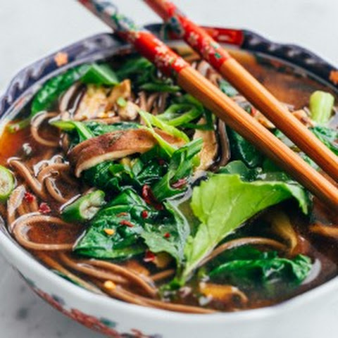 Shiitake and Spinach Miso Soup