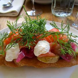 Salmon by Viive Selg - Food & Drink Plated Food