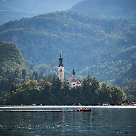 by Cristian Nicola Foto - Landscapes Mountains & Hills ( mountain, church, bled, lake, travel )