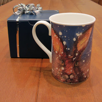 Christmas Hare Rabbit Mug