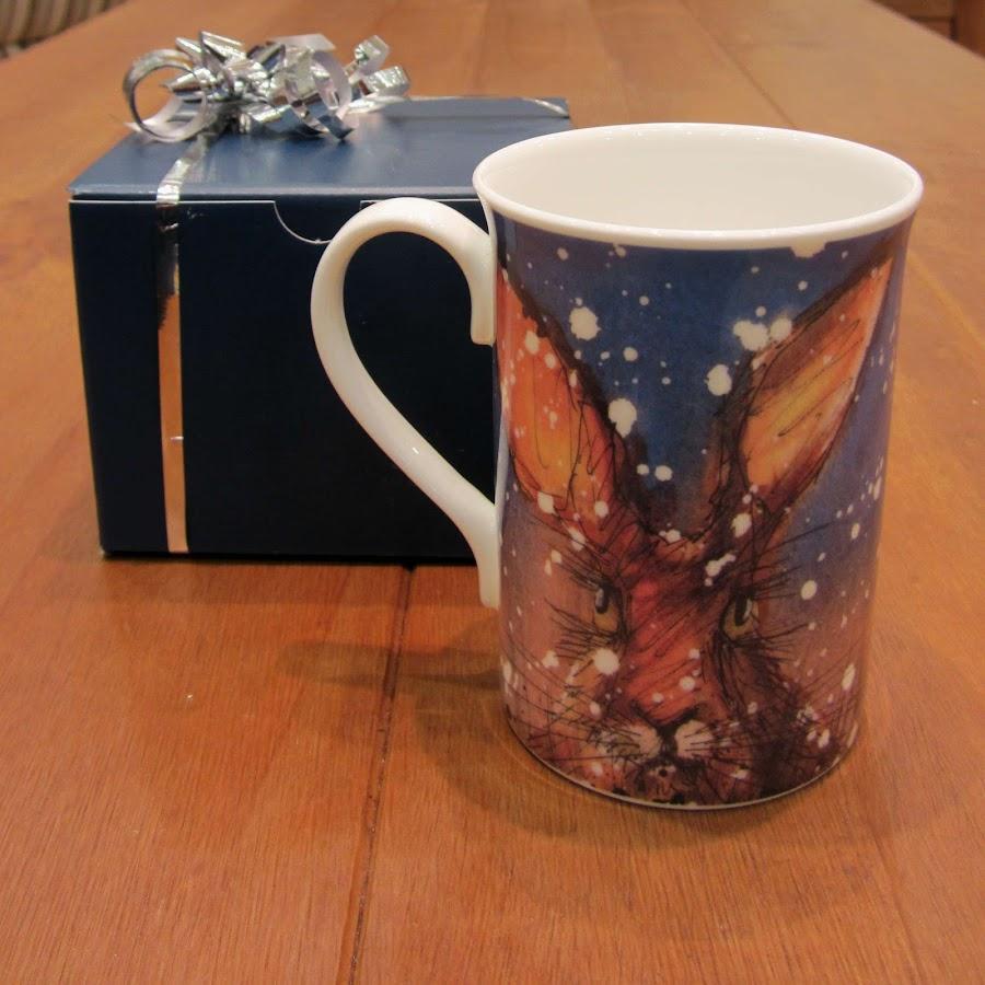 Christmas Hare Rabbit Mug