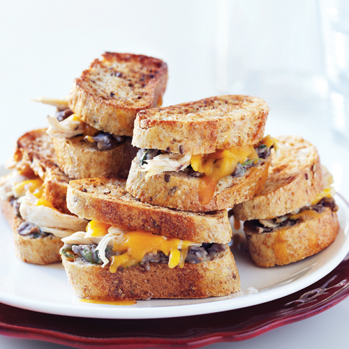 Mini Grilled Cheese Sandwiches with Chicken Recipe | Yummly