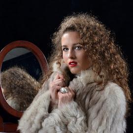 Foxy in Fur by Peter Miller - People Portraits of Women
