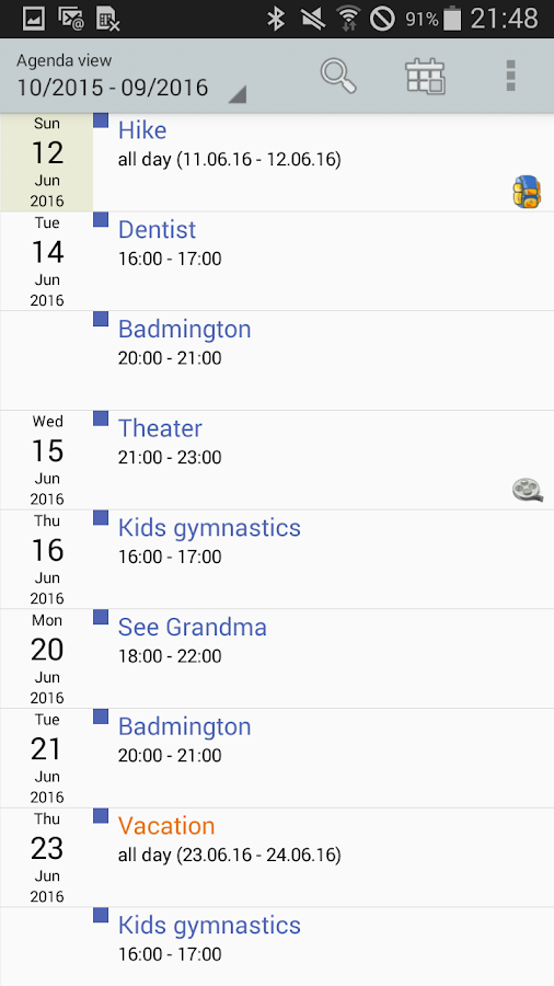 Personal Calendar Screenshot 4