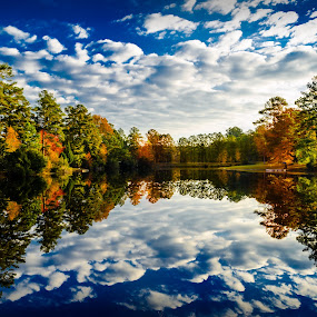 Perfect Reflections by RomanDA Photography - Landscapes Waterscapes ( water, reflection, sky, fall,  )