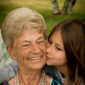 Great Grandma's birthday by Emily Schmidt - People Family ( grandchild, family, great grandma, candid smile, elderly )