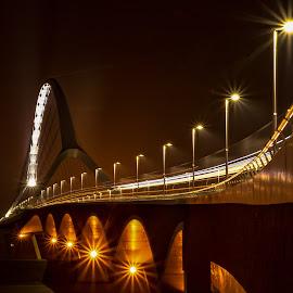 The Crossing by Hans Franken - City,  Street & Park  Night