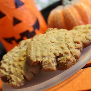 Pumpkin Spiced Peanut Butter Cookies - Egg Free and Vegan Adaptable