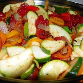 Dinners Ready by Sandy Stevens Krassinger - Food & Drink Fruits & Vegetables ( zucchini, onions, peppers, food, vegetables, tomatoes,  )