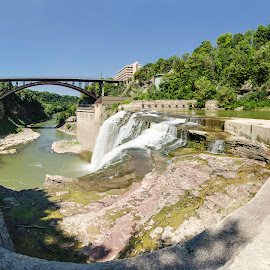 Driving Park Bridge by Matthew Weeg - Buildings & Architecture Bridges & Suspended Structures ( water, waterfall, bridge, architecture, landscape, river )