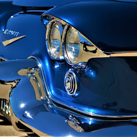 I feel blue by Benito Flores Jr - Transportation Automobiles ( .worth, blue, texas, goodguys, car show )