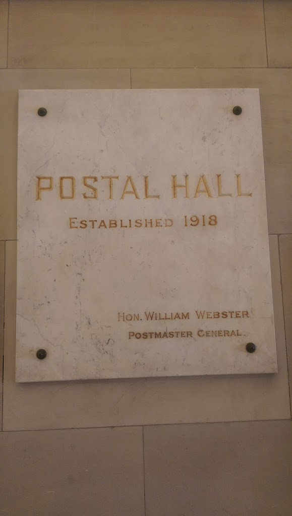 Inside the form General Post Office in Swanston St, Melbourne, Victoria Australia. Currently a retail store. Reads: POSTAL HALL Established 1918  Hon. William Webster Postmaster General Submitted ...