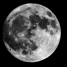 Full moon by Sanjeev Goyal - Landscapes Starscapes ( sky, moon, full moon, nature, celestial )
