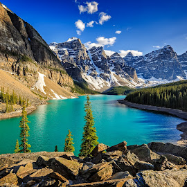Moraine Lake by Stephen Kennedy - Landscapes Mountains & Hills ( lake louise, ten peaks, canada, alberta, june, 2015, lake, rockies, scenery, landscape, banff, peaks, moraine,  )