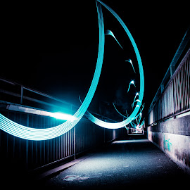 My own way by Christian Tiboldi - Abstract Light Painting ( light painting, my own way, lighting, bridge )