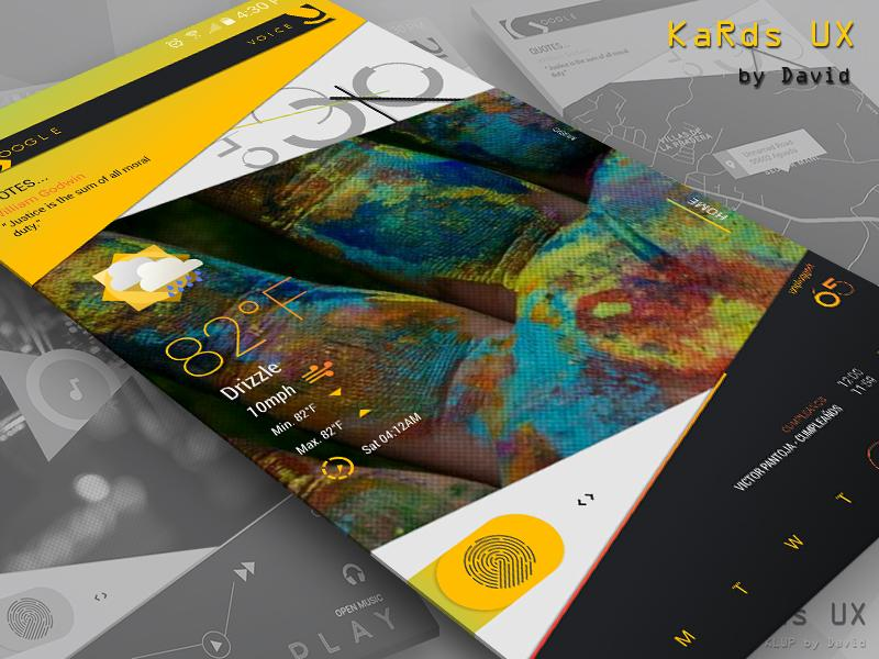 KaRds UX for KLWP Screenshot 4