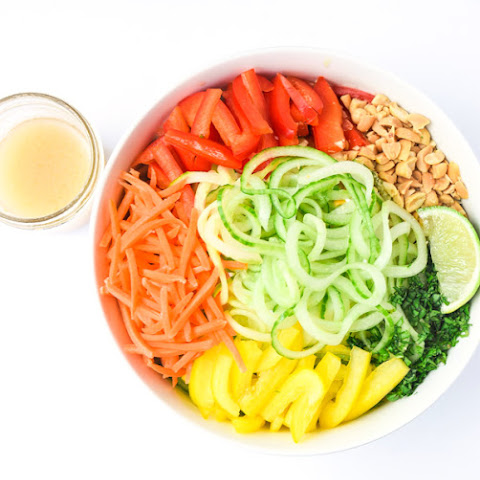 Spiralized Spring Roll Bowls